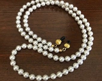 327fc2b1e9d8 White Pearl Eyeglasses Chain. Women s Pearl Beaded Glasses Holder. Eyewear  Accessories. Teacher s Gifts. Twenty Dollar Gifts for Her.