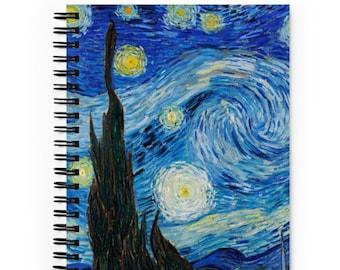 Vincent Van Gogh Starry Night Notebook- Journal- Sketchbook- Diary