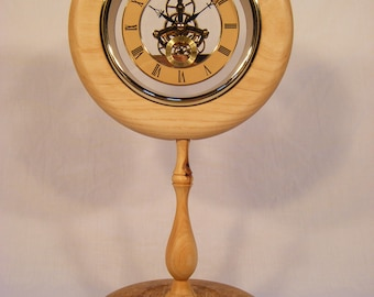 Oak,Ash and Yew Skeleton Clock.