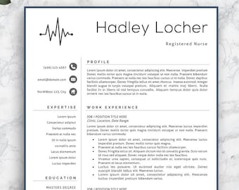 SALE Nurse Resume Template Nursing Professional CV Medical