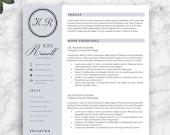 resume templates for sale