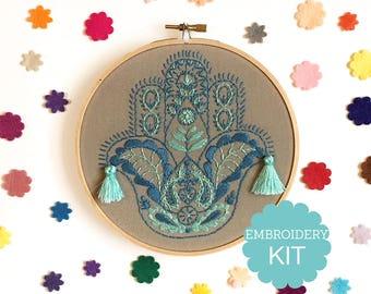 Hamsa Embroidery Kit