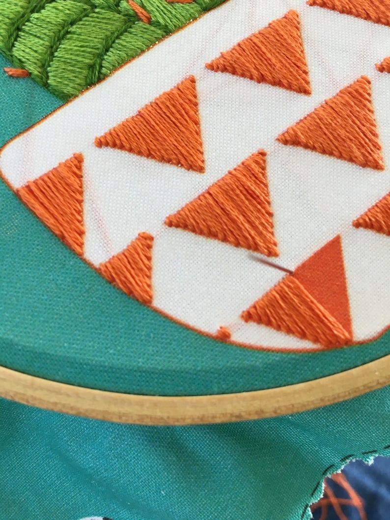 Orange Cactus Embroidery Kit
