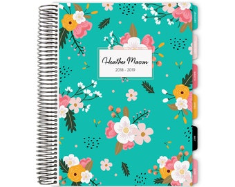 12 Month Weekly Planner Personal Agenda Custom Calendar 2018 - 2019