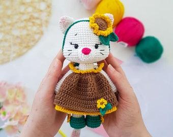 Adorable Sunflower Doll Crochet Pattern By Havva Designs | 270x340