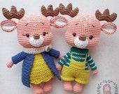 Pattern CARL CRYSTAL the DEERS - Amigurumi Crochet Sheep Pattern- Amigurumi Lamb Pattern