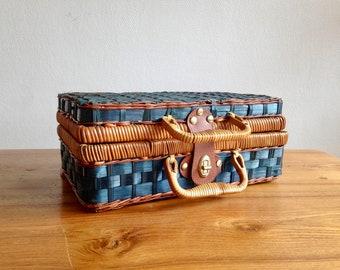 Bureau en rotin rotin et osier bois couleur vintage aobjrgn