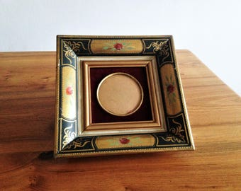 Antique frame - gold and pink - red velvet - antique french