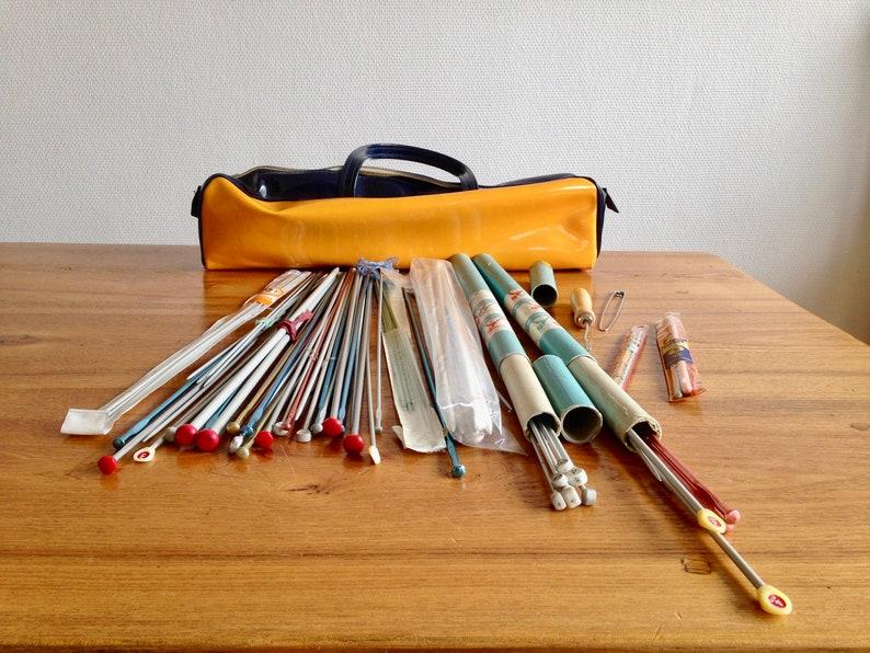 knitting needle kit vintage kit lot of needles image 0