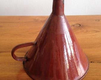 Enameled antique funnel - shabby