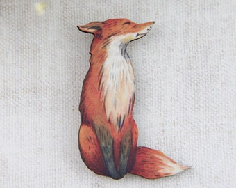 Gift for her Fox Fox Brooch Fox Pin Brooch Foxy Lady Brooch Fox Art Gifts for Girlfriend Fox Gift Pin Girlfriend Gift