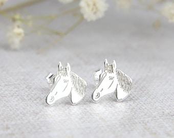 Horse Earrings Equestrian Jewelry Equestrian Horse Head Silhouette earrings Equestrian Earrings Horse Head Earrings Horse Jewelry