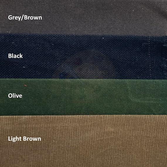Water Resistant Waterproof Fabric 12oz Waxed Canvas Fabric Waxed Cotton Canvas Fabric By the half metre