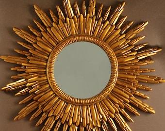 gold sunburst mirror. Sunburst Mirror, Hollywood Regency Sunflower Starburst Sun Antique Gold Colour Beverly Hills Hotel Mirror
