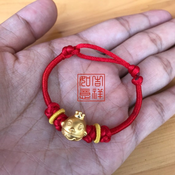 PINK BEADED POWER BRACELET CHINESE SYMBOLS FOR LUCK and GOOD FORTUNE BAG /& CARD