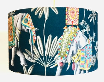 """Lampshade """"Elephants and Palms"""""""