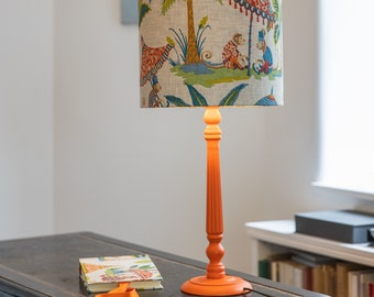 """Table lamp """" Monkeys with umbrella and palm tree"""""""