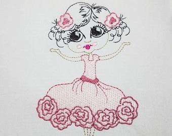 Ballerina - Machine Embroidery Design