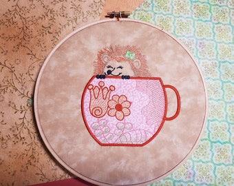 Jolly hedgehog applique machine embroidery design etsy