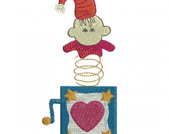 Jack in the Box - Machine Embroidery Design