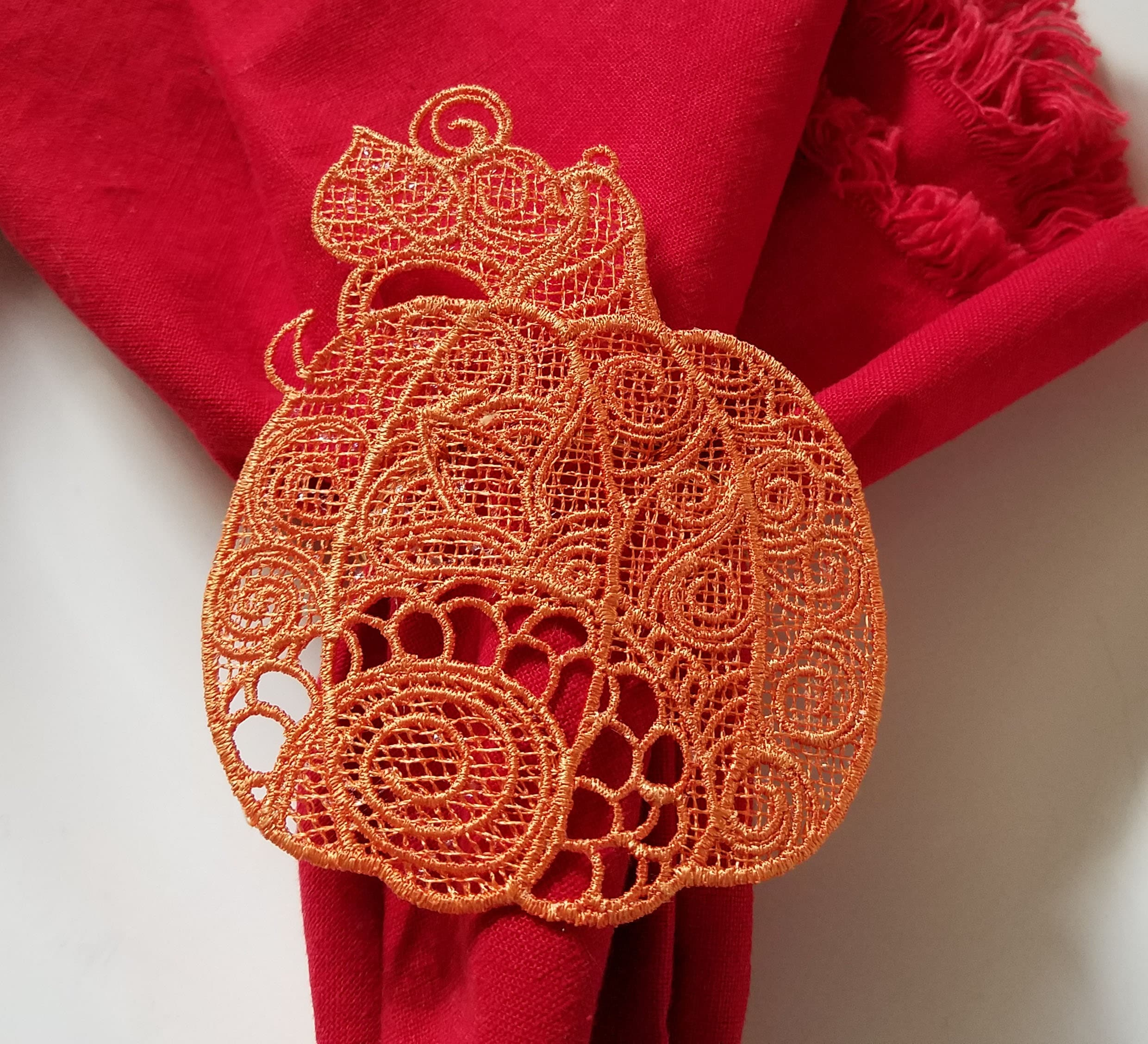 Pumpkin Free Standing Lace Machine Embroidery Design 4x4 Etsy