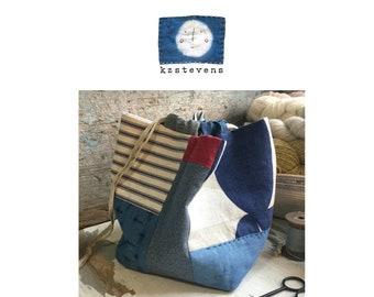 PDF Sewing Pattern - Modern Japanese Rice Bag (Komebukuro)