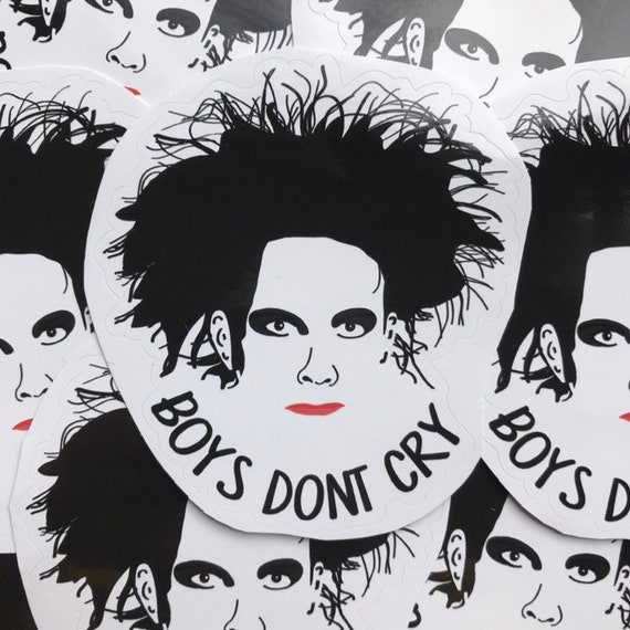 Robert Smith/The Cure 'Boys Don't Cry' Sticker | Etsy
