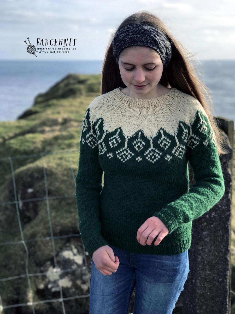 Perfecto Hand Knit Sweater Patterns Viñeta - Manta de Tejer Patrón ...