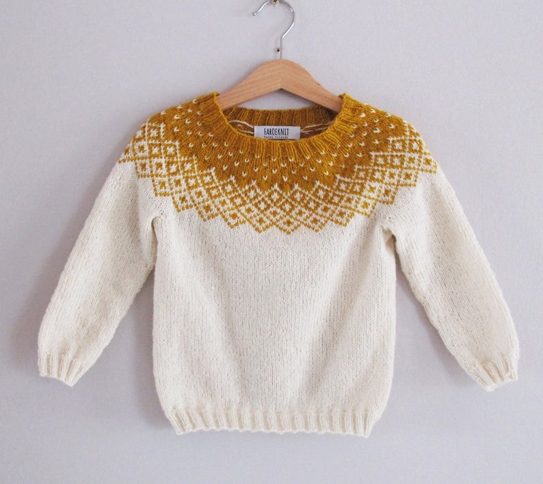 f2bc94d30a30 Bohéme Sweater knitting pattern with a Nordic Fair Isle