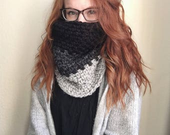 Tri-Colored Cowl Scarf | Ready to Ship | Cold Weather Essentials