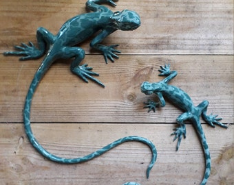 Speckled Green Wall Lizards