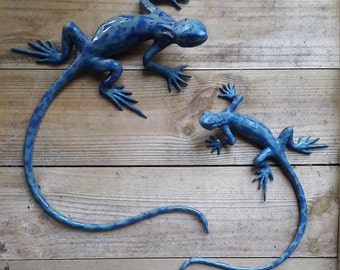 Speckled Blue Wall Lizards