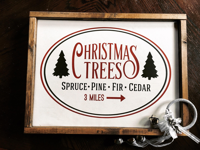 Christmas Trees Framed Christmas Trees Sign | Etsy
