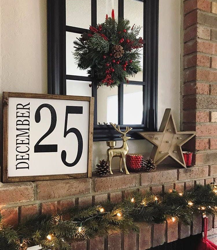 Choose your own Date Sign Farmhouse style framed painted | Etsy