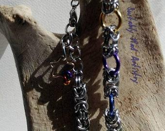 Rainbow Byzantine Bracelet