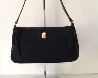 Ralph Lauren Black Wool Shoulder Bag 83fc94ab79955