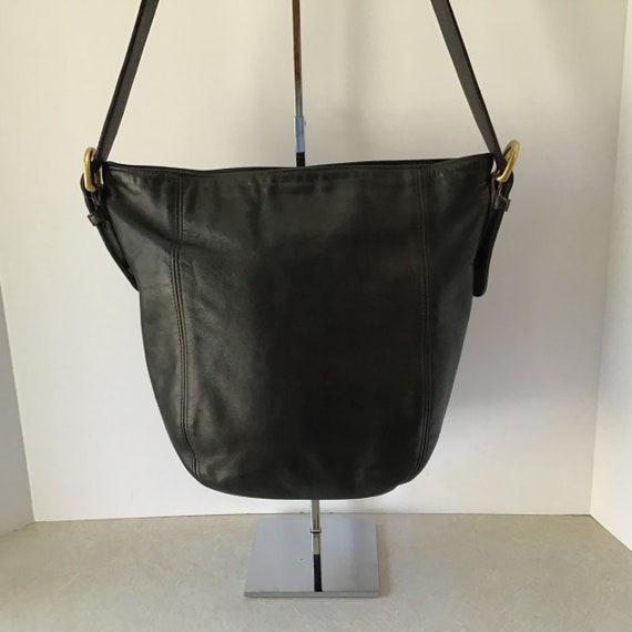 Coach Vintage USA Black LeatherWare Bucket Bag