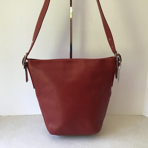 Coach Vintage Red Leather Legacy Bucket Shoulder B