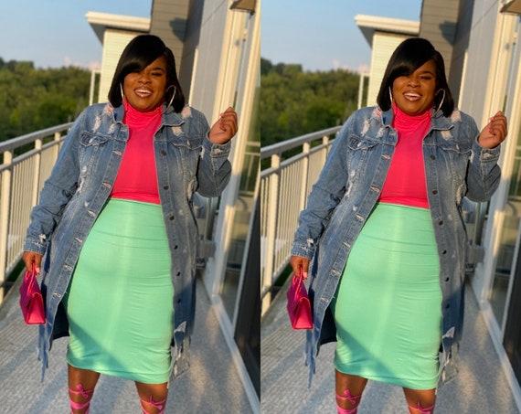 Mint Midi Skirt