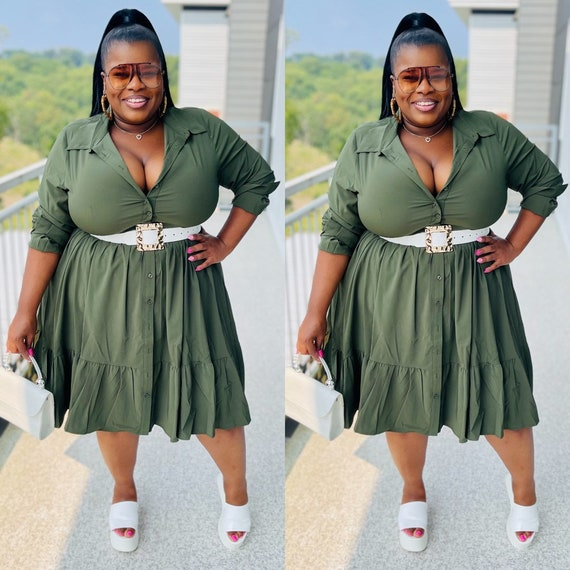 Class Act Dress ( Olive)