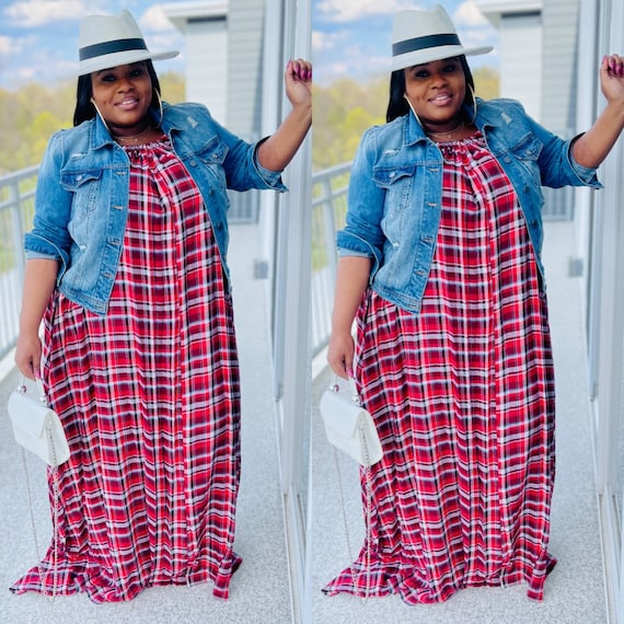 Rocky Maxi Dress ( plaid)