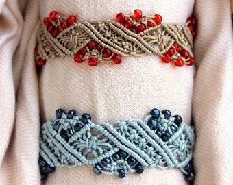 Macrame Diamond Stripe Bracelet