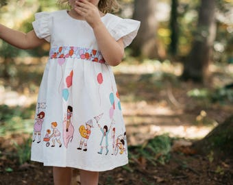Handmade Birthday Party Parade Dress - Baby/Toddler/Girls - Balloon Sash