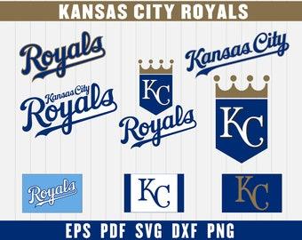 Kansas City Royals Cut Files, SVG Files, Baseball Clipart, Cricut Kansas City Royals Cutting Files, Baseball DXF, Clipart, Instant Download