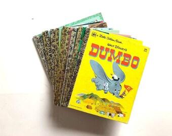vintage Little & Big Golden Books DUMBO Bialosky Tootle PeterPan Lady Tramp PiedPiper Scuffy SnowWhite Shy Little Kitten Little Red Caboose