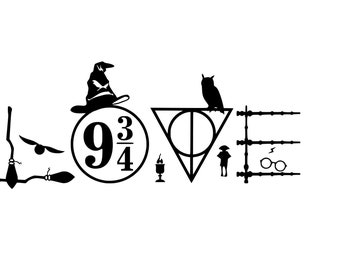 Harry Potter Decal Etsy