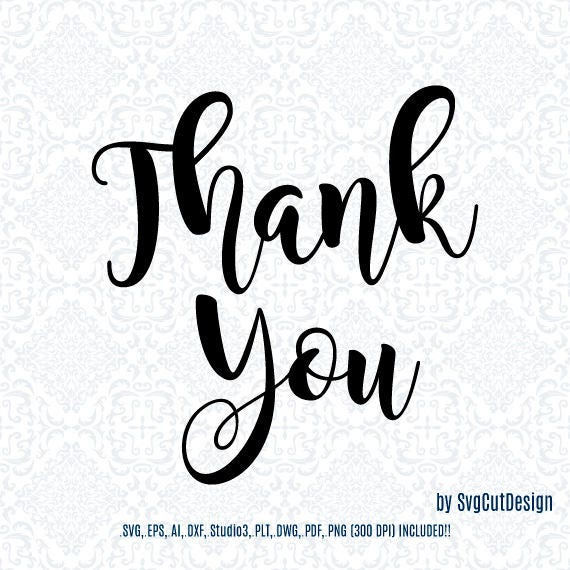Thank You Quotes Laser Cutting Die Laser Cut Cricut Designs Etsy
