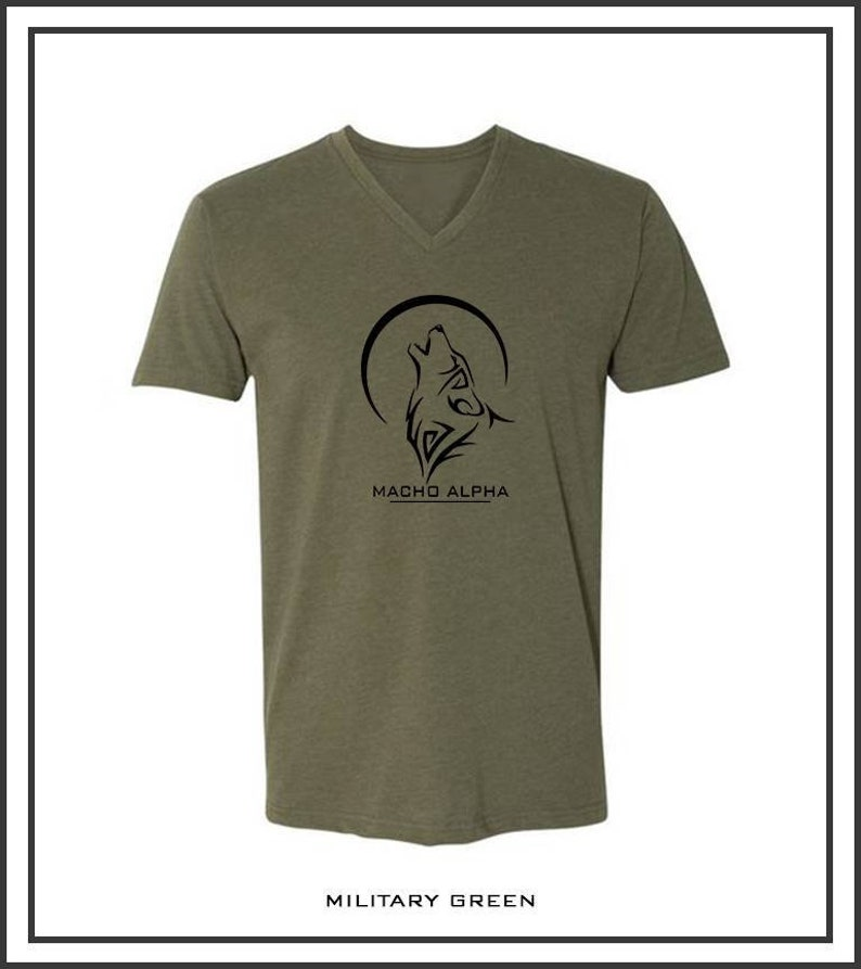 e4c7bf6279d3e Macho Alpha T-Shirt  logo t-shirt  Printed Men logo  Wolf logo