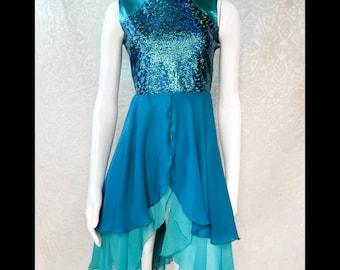 Oceans Dance Dress/ Dance dress/ turquoise dress/ worship dress/ ballet dress/,