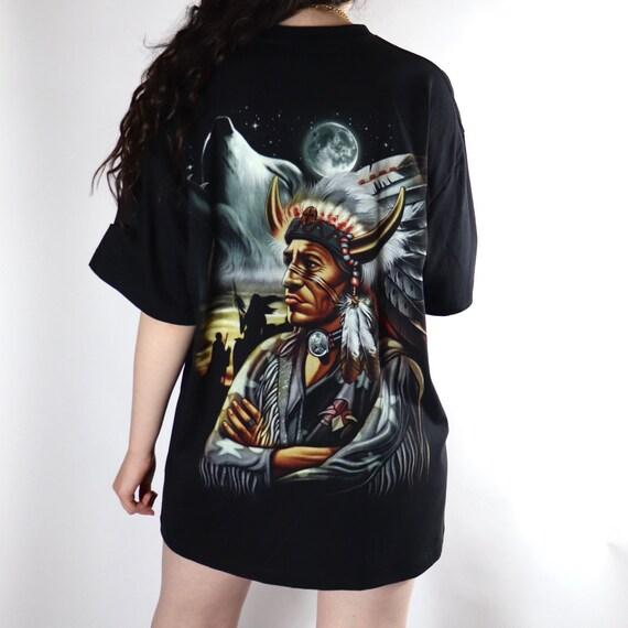 Indian chief black L tshirt - image 3